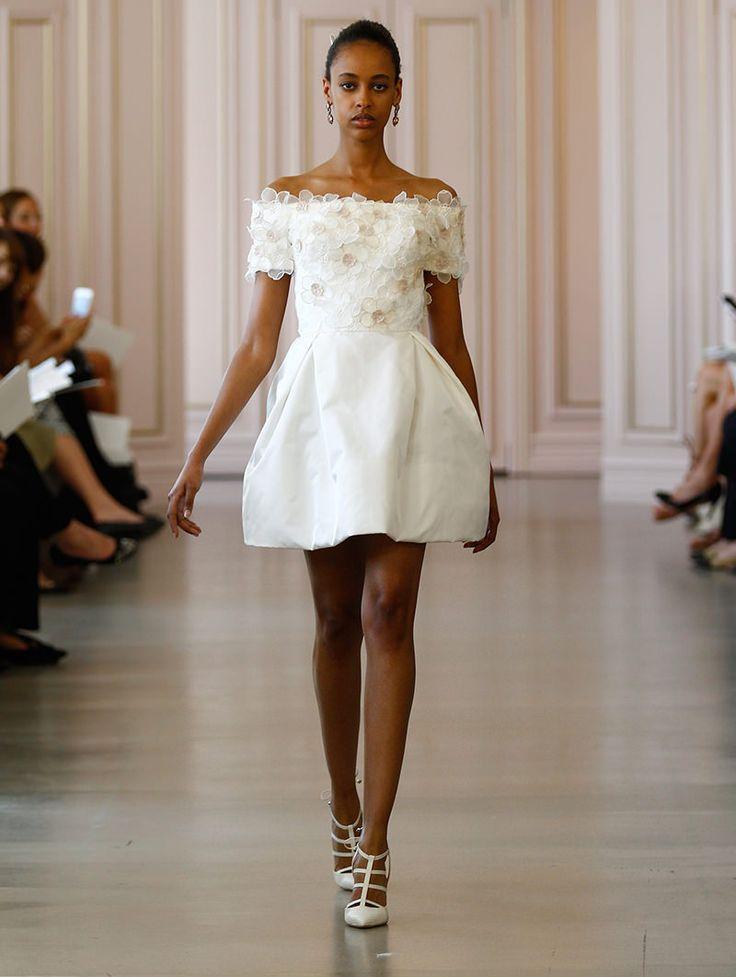 vestido-de-casamento-curto-para-baixinhas-oscar-de-la-renta