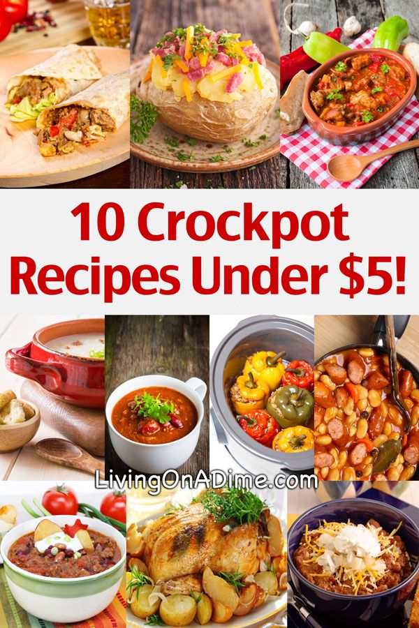 10 Crockpot Recipes Under $5 really want to try the garlic roasted chicken.