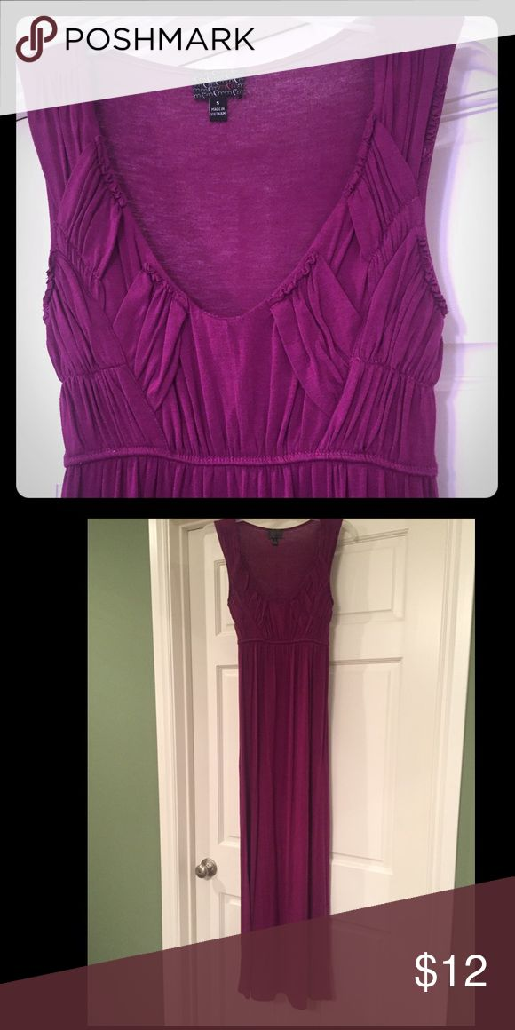 """MCM brand maxi dress from Dillards Only worn 3 times. I'm 5'2"""" and can only wear this with 4"""" heels at least. It is a purplish fuchsia. Junior size, not women's. MCM Dresses Maxi"""