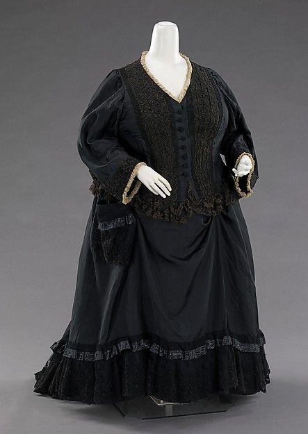 Vestido de luto usado pela Rainha Vitória em 1894. Acervo do MetMuseum.