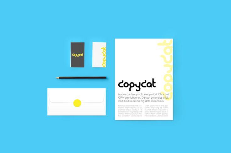 Stationery Branding/Identity Mockup, FREE! (psd mock up) CopyCat