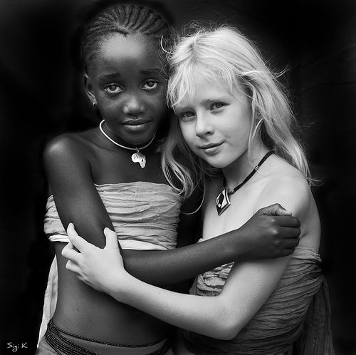 "PHOTOGRAPHER: Sigi Kolbe ~ ""Tender innocence""  -  BOTH African children! Children are not born prejudiced. That is something adult society teaches them."