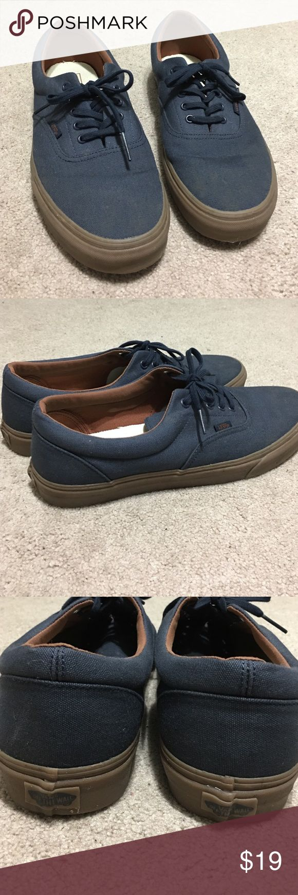 Cool vans shoes! Used but in decent condition. Dark blue with gum bottom! Vans Shoes Sneakers