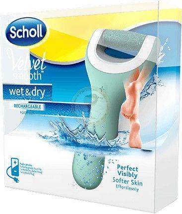 SCHOLL Velvet Smooth Wet&Dry, Elektryczny pilnik do stóp – wodoodporny - pilniki, przybory do pedicure / PIELĘGNACJA / Scholl / KOSMETYKI - Apteka internetowa HIT