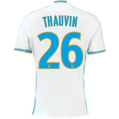 Olympique de Marseille Home Shirt 2016/17 with Thauvin 26 printing, White: Olympique de Marseille Home… #sports #sportsshopping #sportswear