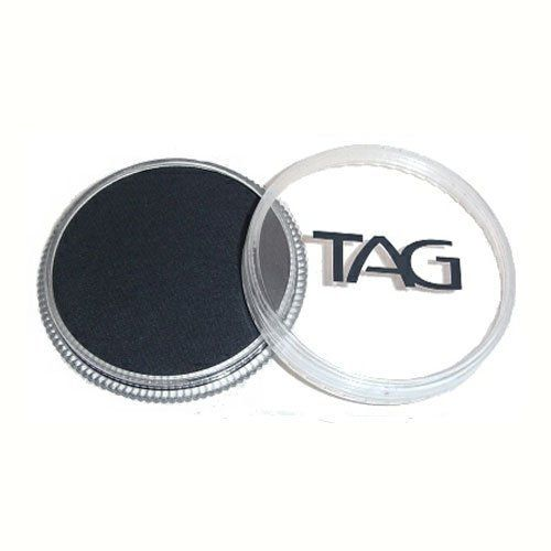 TAG Face Paints - Black (32 gm) by TAG Body Art. $6.47. TAG Face Paint is very easy to blend, soft on the skin and does not crack or peel.. Each 32 gram TAG Face Paint Container is good for 50-200 applications.. Great for line work. TAG face paint is hypoallergenic and made with non-toxic, skin safe ingredients.. TAG Black Face Paint is very easy to blend, soft on the skin and does not crack or peel. Most of TAGs face painting colors are great for line work and...