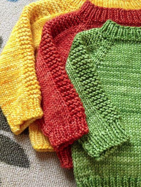 Nice treatment for raglan sweater Autumn Flax by Angeldogknitter