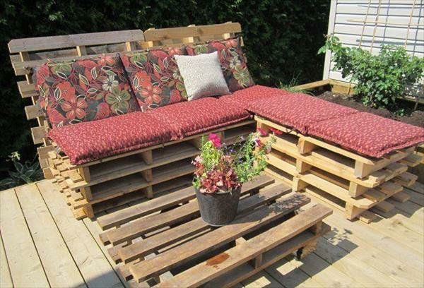 massive Holzmöbel aus Paletten sofa tisch