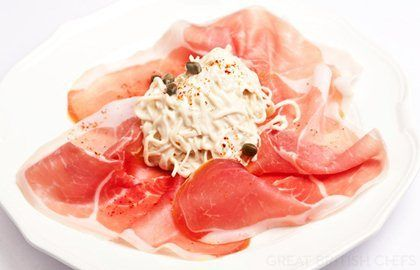 Bayonne ham and celeriac remoulade - Henry Harris | Great British Chefs
