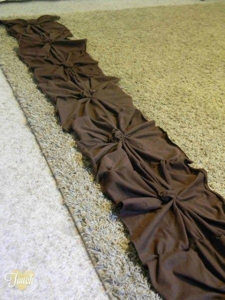 DIY para aprender hacer una Colcha de nudos para cama .