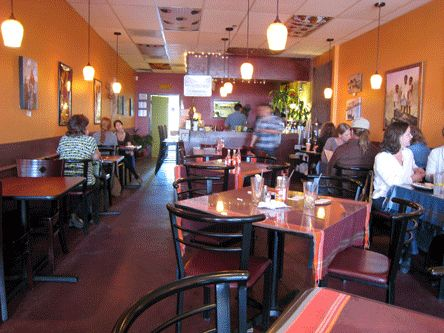 Jambo Cafe in Santa Fe--where the locals go for amazing African food.
