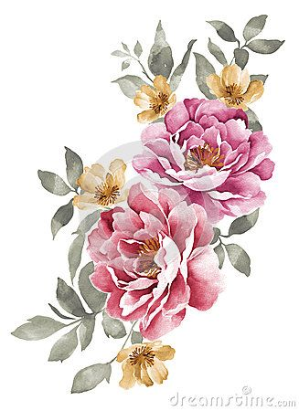 Watercolor illustration flower