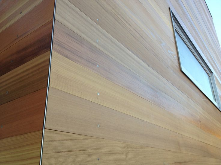Detail Of The Tongue And Groove Cedar Cladding With Clear Coat Method Homes Sonoma California