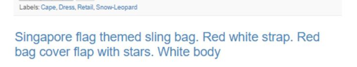 Singapore Sling Bag. #singapore #sling #bag #design #branding #marketing #boutiques #supermarket #food #coles #woolworths #aldi #australia