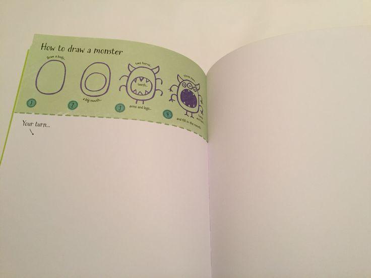 How to draw a monster #raisasbooks http://org.usbornebooksathome.co.uk/RaisBooks/catalogue/catalogue.aspx