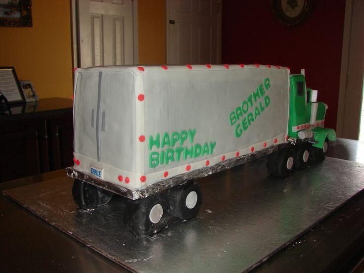 18 Wheeler Truck Birthday Cake                                                                                                                                                                                 More
