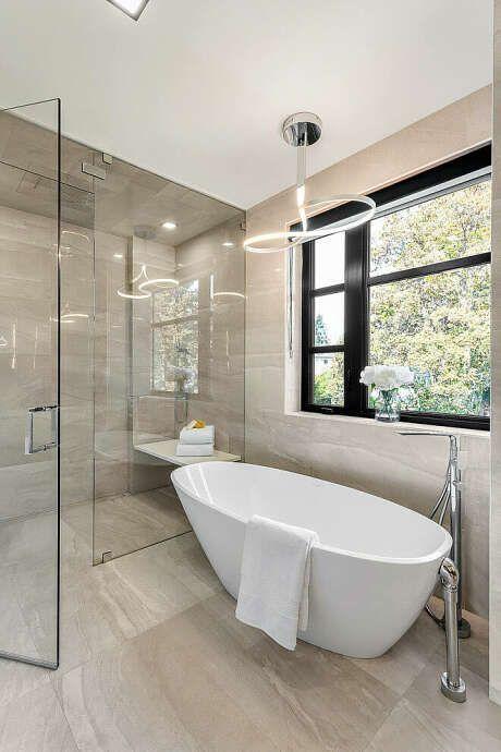 33 Elegant White Primary Bathroom Ideas 2020 Photos White Master Bathroom White Bathroom Designs Light Blue Bathroom