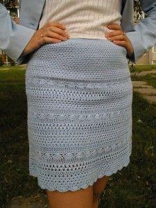 Узорчатая юбка крючком