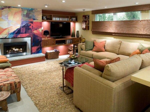 Basement Family Room Design Ideas 23 best finished basements images on pinterest   basement ideas