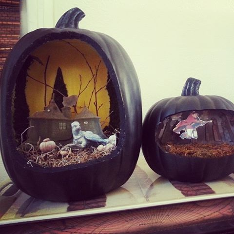 harry potter pumpkin dioramas - Halloween Diorama Ideas