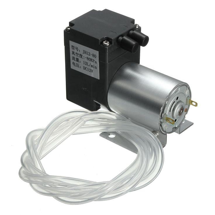 DC 12V Mini Vacuum Pump Negative Pressure Suction Pump 12L/min 120kpa With Holder: Vendor: BG-US-Electronics Type: Professional Tools…