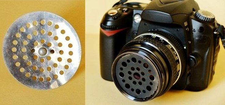 How to Turn a Sink Strainer into a Soft Focus Camera Lens Filter « Photography
