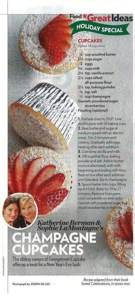 Georgetown Cupcake - Champagne Cupcakes (Kim's Bachelorette? or Bridal Shower?) @Jesi Carson Carson Culverhouse