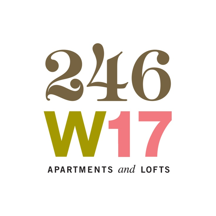 246 w17 apartments & lofts logo / m.laux