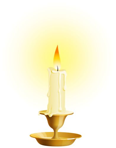 White Candle PNG Clip Art