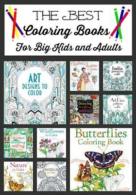 The Best Coloring Books for Big Kids and Adults   #coloring #homeschool #homeschooling #unschooling #coloringforadults