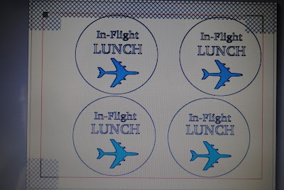 Calico and Cupcakes: Silhouette Print and Cut tutorial: Airplane party lunch tags