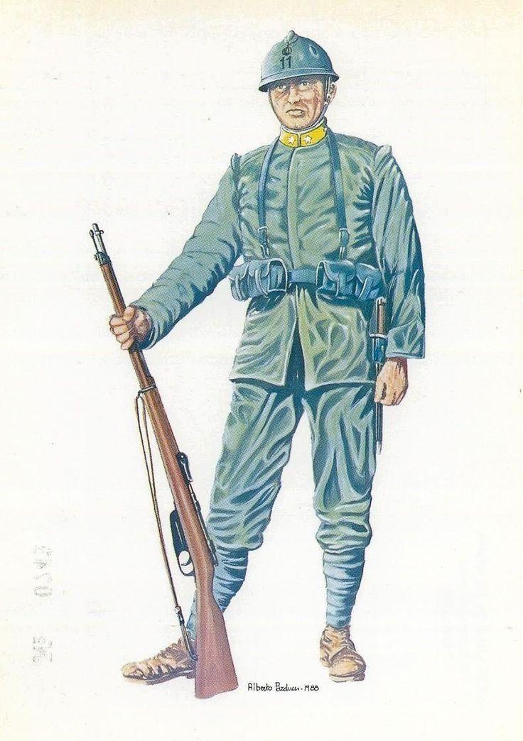 """Regio Esercito - FANTE DELL 11° REGGIMENTO, """" BRIGATA CASALE"""" (1915-1918)"""