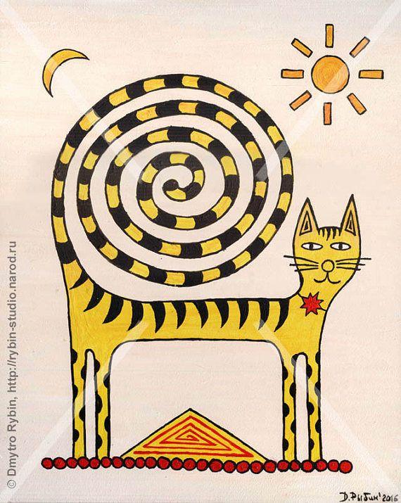 Кот со спиральным хвостом
