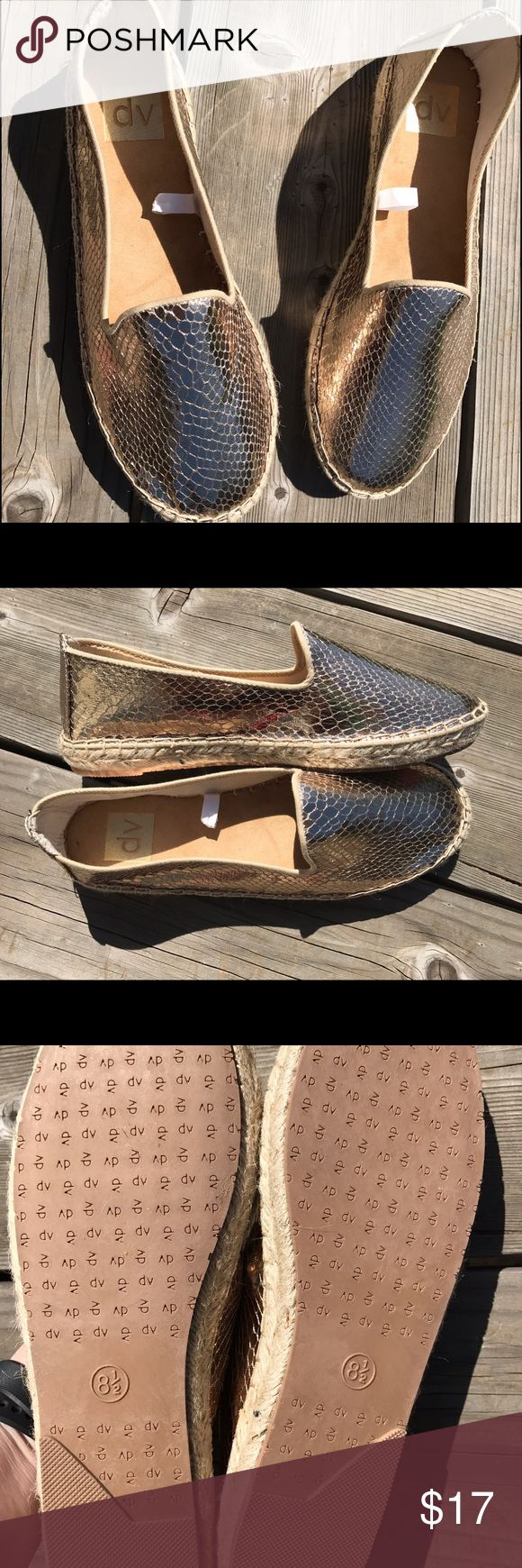 Dolce Vida for Target gold espadrilles. Tia. NWOT Brand new condition. never been worn. Dolce Vita Shoes Espadrilles