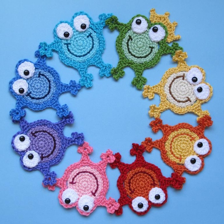 Crocheting: Hoppy Frogs; TOO CUTE!!! $3.99