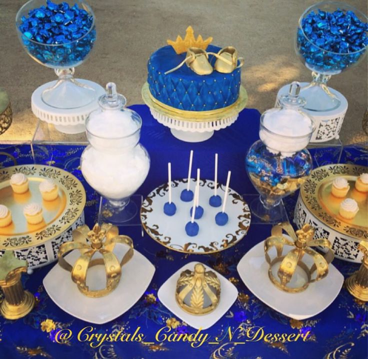 Royal Wedding Themed Desserts: 53 Best Images About ROYAL BLUE & GOLD BABY SHOWER On