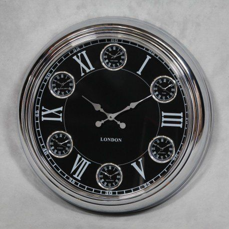 London cafe 1950s retro vintage wall clock station clocks high quality design in industrial retro american cafe clocks Smithers of stamford 01780 435060