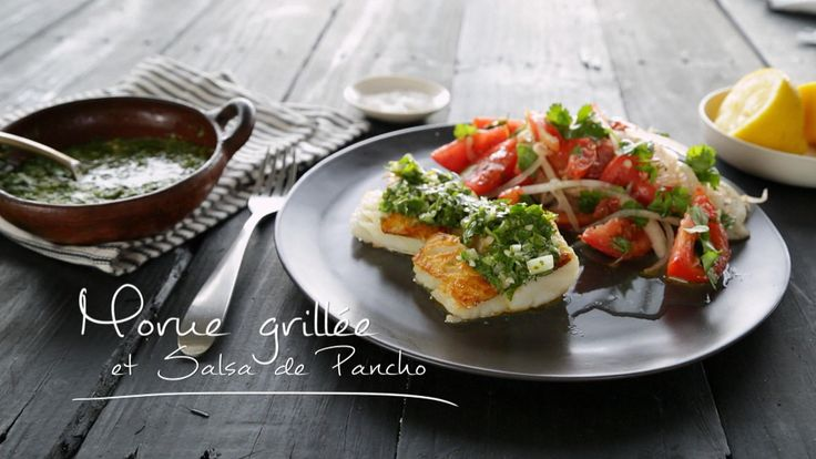 Morue grillée et salsa de Pancho