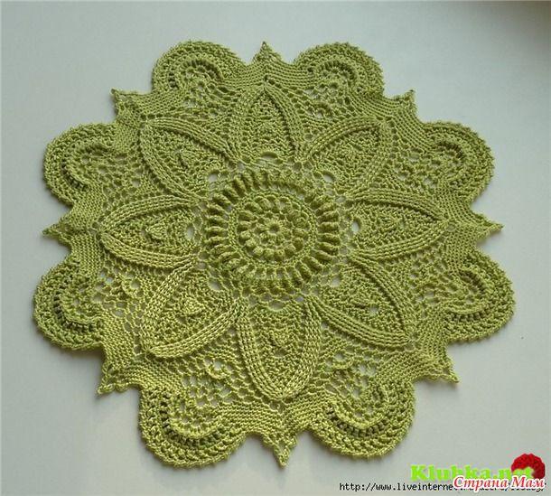 Incrível crochet doily - Tudo em céu aberto ... (crochet) - Mom País
