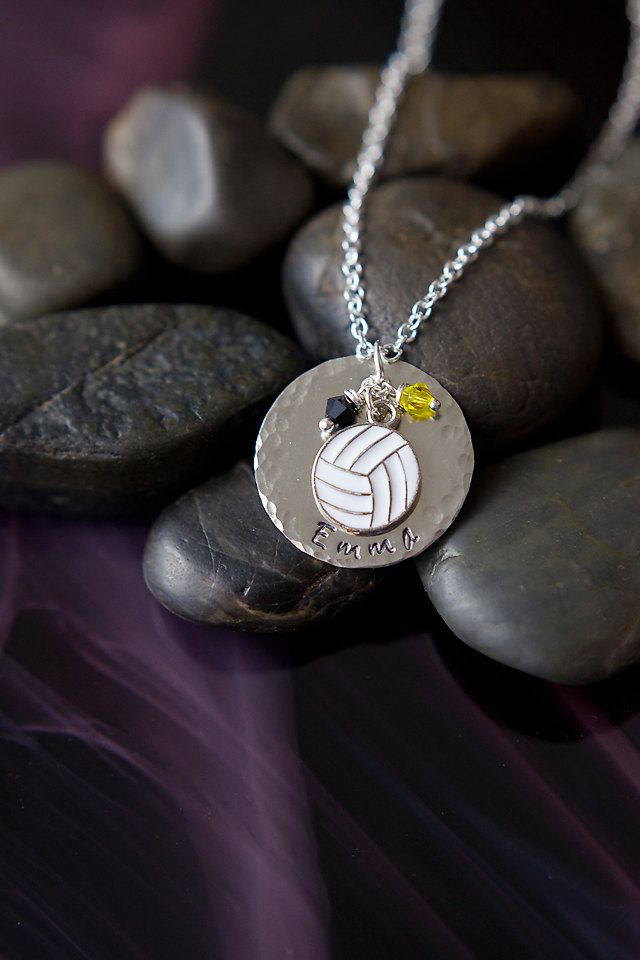 SALE Personalized Volleyball Necklace Team by DistinctlyIvy
