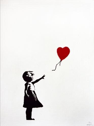 "Banksy Art ""Girl with Balloon"""