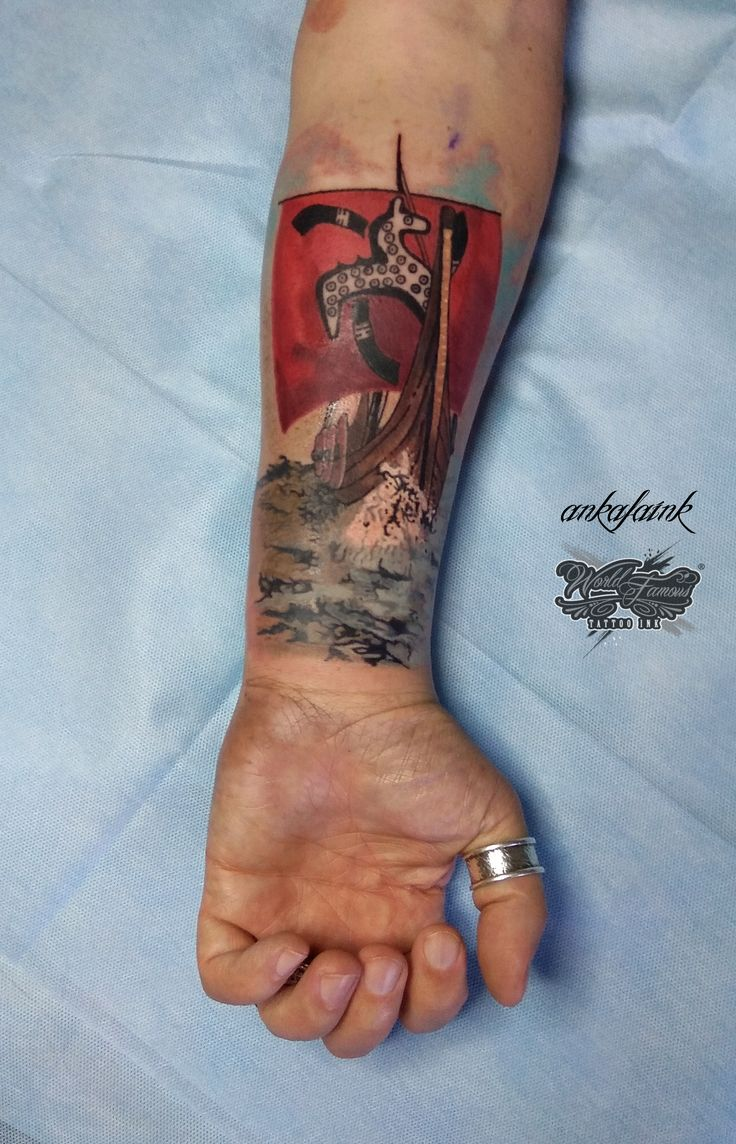 Slavic Pagan Viking Tattoo by @ankafaink / Słowiański Pogański tatuaż Wiking