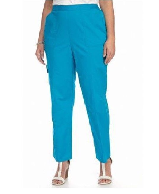 306d49bacf5 Alfred Dunner Tropical Vibe Pants Pull On Azure size 18 NEW https   www