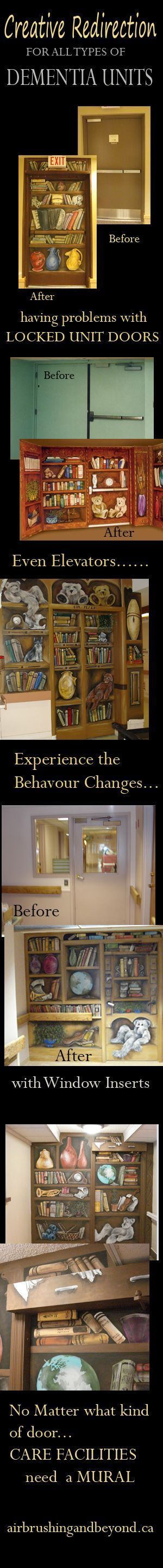 Such great ideas for Dementia and Alzheimers Care facilities for pts that wander...this really works!