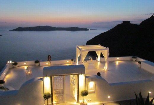 El cocktail de bienvenida en una terraza así... maravilloso