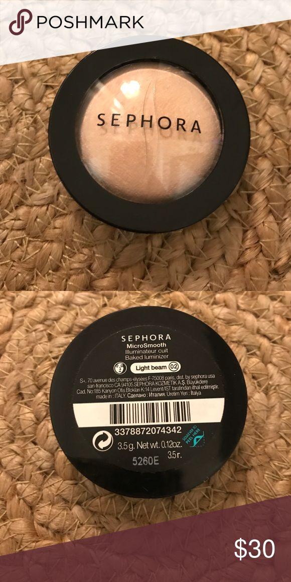 Sephora Light Beam Powder Highlighter Luminizer Sealed. Never used or opened. Discontinued. Light Beam 02 Microsmooth Baker Luminizer Sephora Makeup Luminizer