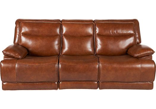 Shop For A Gavino Leather Power Reclining Sofa At Rooms To