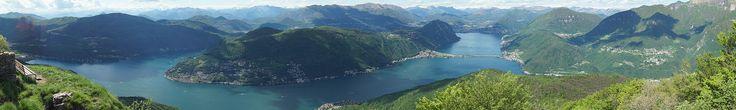 View on Lake Lugano from Monte Bré - Lugano - Wikipedia