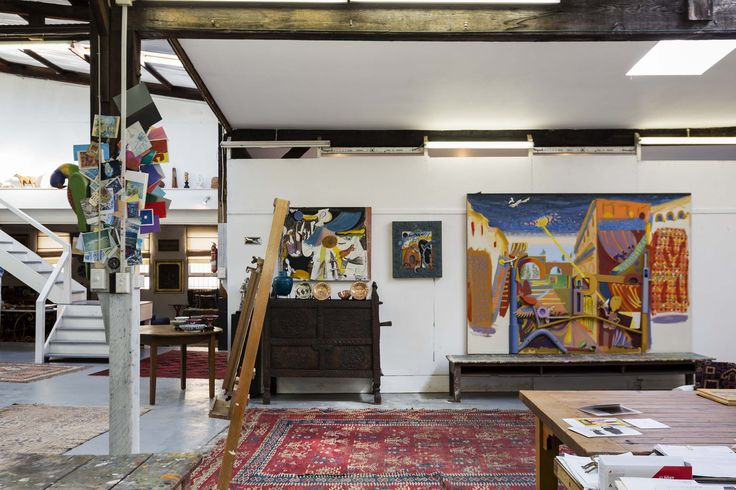 The incredible warehouse studio of Australian artist Colin Lanceley http://www.australiangalleries.com.au/artists/9-artists/138-colinlancely #AustralianArt #ArtStudio #Warehouse #ArtistStudio #ArtGallery #ColinLanceley