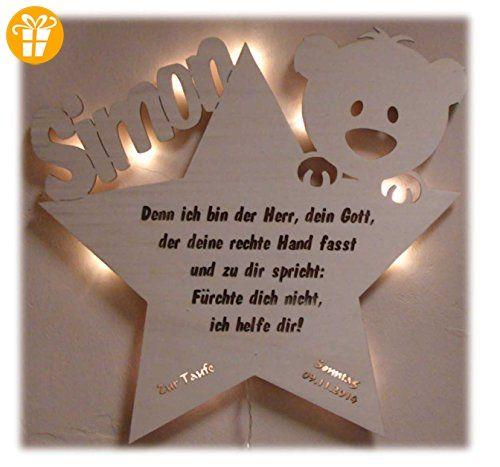 schlummerlicht24 led nachtlicht baby lampe teddy stern baby geschenke zur taufe mit namen tauf. Black Bedroom Furniture Sets. Home Design Ideas